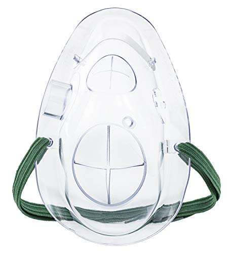 Curaplex Panoramic Oxygen Mask (POM) for Multi-Port Capnography, Latex-Free, Box of 30 Masks