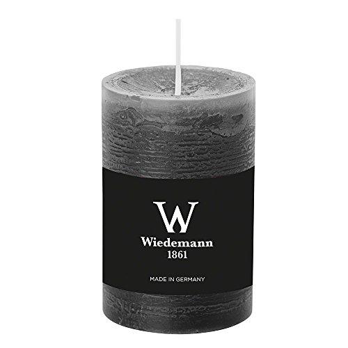 durchgefärbte Stumpenkerzen (H x Ø) 90 x 58 mm, Farbe Grau, mit ASF zum Abbrandschutz, Wiedemann Marble Kerzen, Advent, Adventskranz, Weihnachten, Dekoration, Event