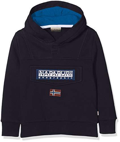 Napapijri Jungen Burgee Sweatshirt, Blau (Blu Marine 176), 128 (Herstellergröße: 08)