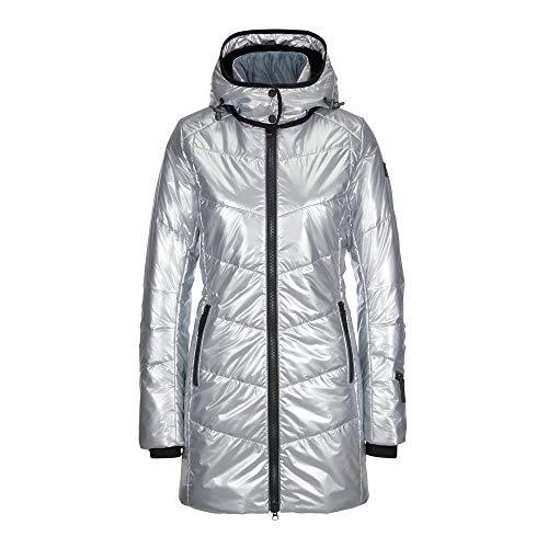 Bogner Fire + Ice Ladies Irma Grau, Damen Daunen Mantel, Größe 40 - Farbe Liquid Silver