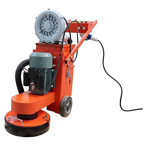 TECHTONGDA Hand Push Concrete Floor Grinder Epoxy Ground Grinding Machine for Restore New and Old Ground Vacuum Dust with Fan 220V