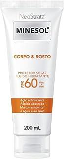 Neostrata Minesol Corpo & Rosto Protetor Solar Fluido Hidratante Fps 60 200 Ml, Neostrata