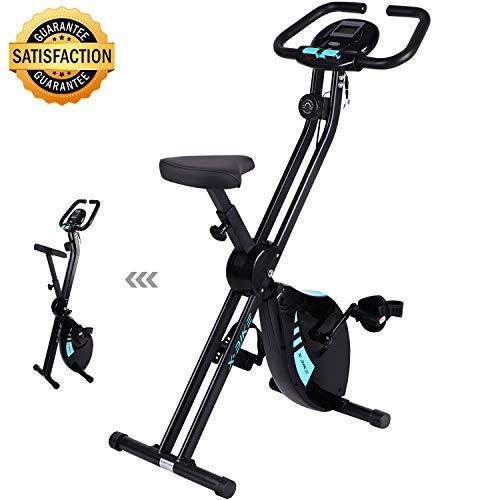 Zusammenklappbarer Heimtrainer – Fitness Indoor Bike Heimtrainer mit leicht verstellbarem Sitz Indoor Trainingsgerät