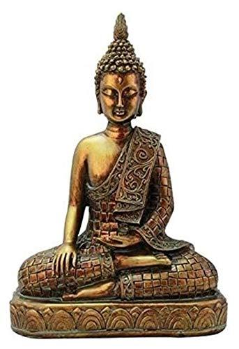 WQQLQX Statue Buddhismus bodhisattva statuen Indien Buddha Statue Buddha Kopf skulptur Nachahmung Kupfer Handwerk Statue dekorative skulptur Kunst Dekoration Statuette Skulpturen