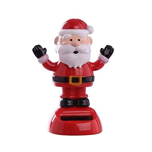 Decorazione a Energia Solare flip flap Babbo Natale ballerino
