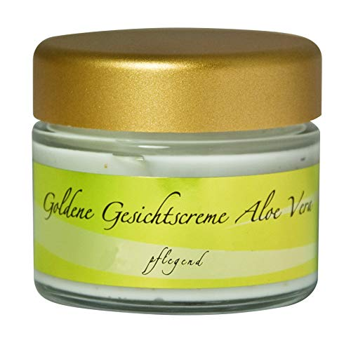 chi-enterprise Goldene Gesichtscreme mit Aloe Vera I Feuchtigkeitsspendende Tagescreme mit natürlichen Inhaltsstoffen & Blattgold I Hautpflege für weiche & geschmeidige Haut...