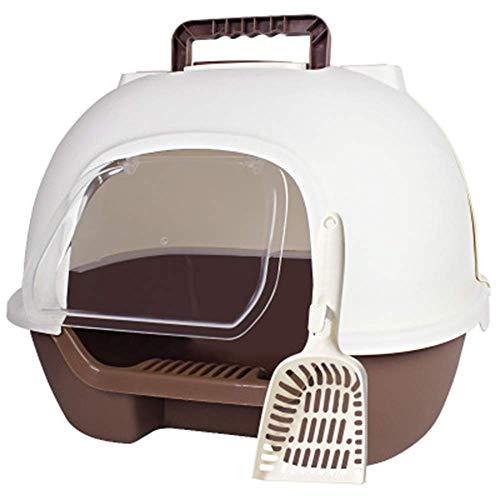 Trainingspad Pet Toilet Tuba Basin van kat nest na volledig gesloten twee-deurs Lift Cover Spatel En Deodorant Kat Training Toilet Potty Huisdier Bed Kat Toilet Hond Toilet (Kleur : Afbeelding, Maat : 53x38x43cm)