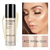 Allbesta 30ml Shimmer Liquid Highlighter Illuminator Cream for Face and Body Make-Up Brighten Glow