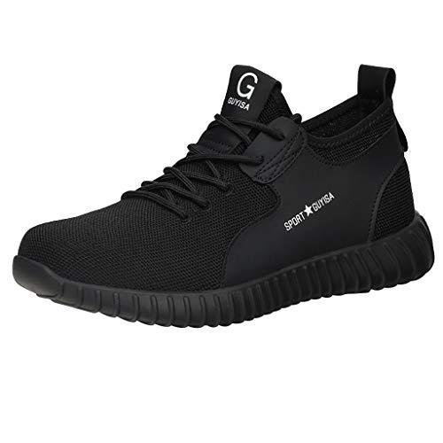 Zapatillas de Deporte Hombres Running Zapatos para Correr Trail Gimnasio Ligero Transpirables Sneakers Resistente al Desgaste Calzado Deportivo Verano al Aire Libre Calzado de Trabajo JiaMeng_ZI