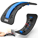 Fixdono Adjustable Back Stretcher, Spine Deck Lower Back Massager, Lumbar Stretching Device for Back Pain Relief