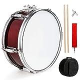 REAWOW Tambor De Marcha Bombo Para Marchas 14 Pulgadas Instrumento Musical De PercusióN Para Baquetas Y Funda Para NiñOs Estudiantes Principiantes