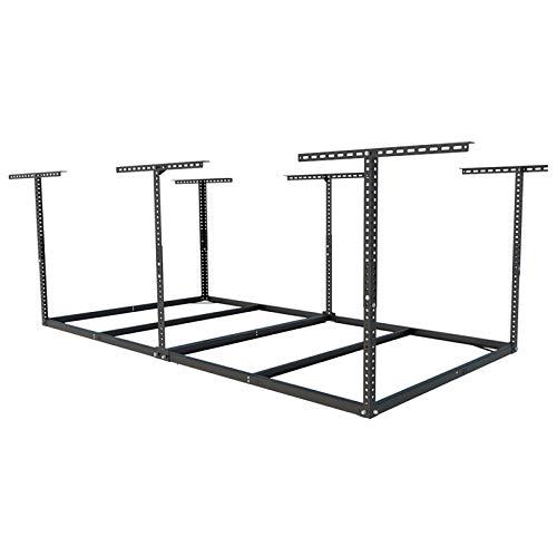 FLEXIMOUNTS 4x8 Overhead Garage Storage Rack without Decking Adjustable Ceiling Garage Rack Heavy Duty, 600lbs Weight Capacity 96