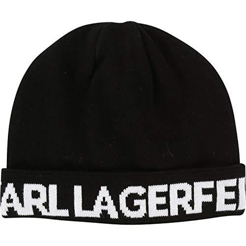 Karl Lagerfeld Kids Logo Intarsien Mütze schwarz Gr. 54