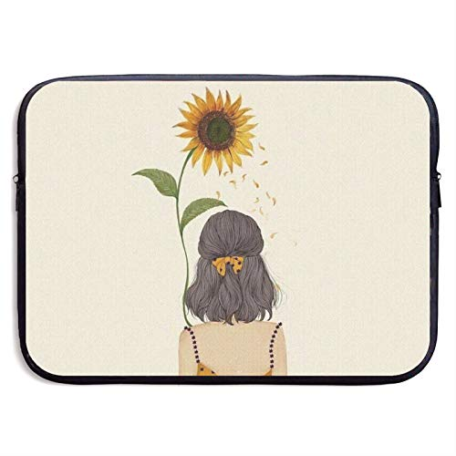 Waterproof Laptop Sleeve 13 inch, Sunflower Girl Business Briefcase Protective Bag, Computer Case Cover for Ultrabook, MacBook Pro, MacBook Air, Asus, Samsung, Sony, Notebook