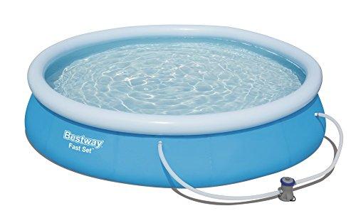Bestway Fast Set Pool Set rund, blau, 366 x 76 cm