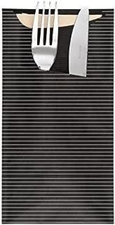 Negro Kraft Verjurado Garc/ía de Pou 169.41 Bolsas Cubiertos y Servilleta Just in Time 80 y 10 Pe G//M2 11.2 x 22.5 cm