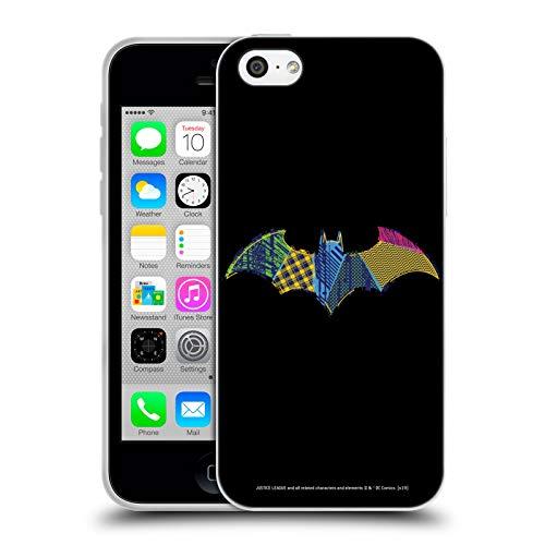 Head Case Designs Officiel Justice League DC Comics Batman Icônes Électriques Foncés Coque en Gel Doux Compatible avec iPhone 5c