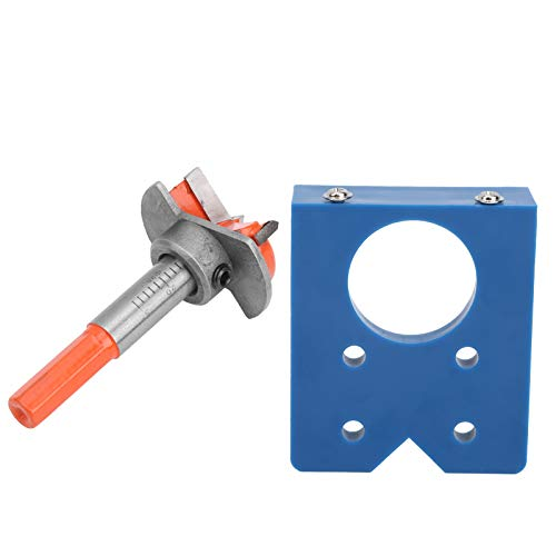 Hinge Hole Locator, ABS Plastic, High Speed Steel, 35mm, Orange, Lightweight and Portable, Door Boring Jig, for Cabinet Hinge for Eurniture Door