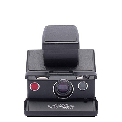 Polaroid SX-70 Camera - Black & Black Skin