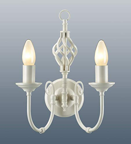 Classico nodo Twist lampada da parete panna
