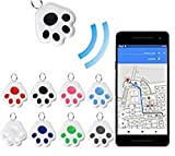 GenericBrands Mini Cat Dog GPS Tracking Locator Prevention Anti-Lost Waterproof Portable Bluetooth Tracker for Luggages Kids Pets Cats Dogs Wallet Key Collar Accessories (Black)