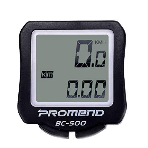 Wakauto Digitaler Stoppuhr-Timer mit Extra Großem Display Und Tasten Geschwindigkeitsmesser-Codetabelle Kilometerzähler für Fahrrad Fahrradfahren mit Batterie