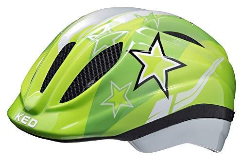 KED Meggy Helmet Kids 2019 Fahrradhelm, green stars, M | 52-58cm