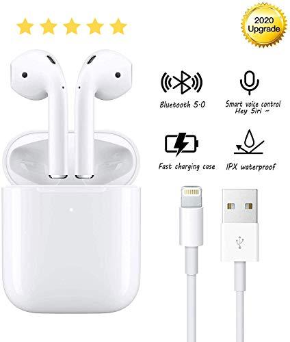 cuffie bluetooth senza fili, cuffie wireless stereo 3D in-ear con funzione impermeabile IPX5, cuffie Bluetooth con accoppiamento automatico per chiamate binaurali, iPhone/AirPods/Android/Samsung