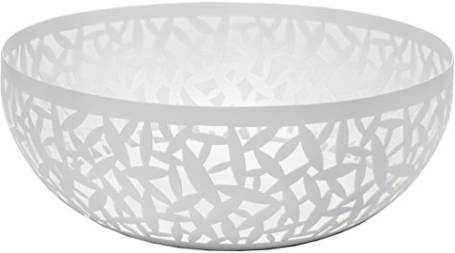 Alessi Cactus MSA04/21 W Design Obstschale, durchbrochen, aus Stahl, epoxidharzlackiert, weiß
