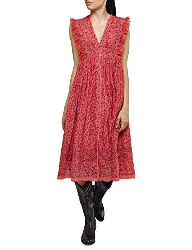 REPLAY W9600 .000.71952 Vestido, Rojo (Red 556), Large para Mujer