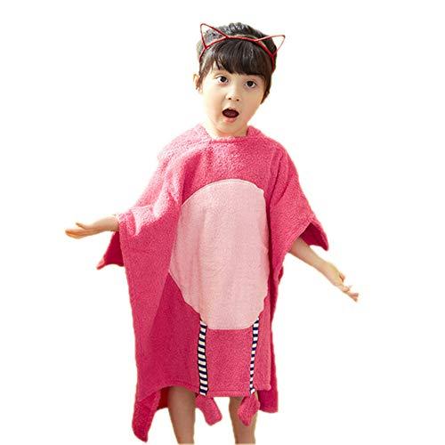 Kinderen Hooded badhanddoeken, Children's Cotton Trui Badjas Flamingo Cotton absorberend Embroidery handdoeken kunnen dragen Beach Handdoeken voor het Meisje van de Jongen