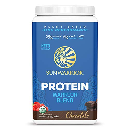 Sunwarrior Warrior Blend - Organic Vegan Plant Protein Powder with BCAAs and Pea Protein - Dairy Free, Gluten Free, Soy Free, Non- GMO, Plant Based Protein Powder, Sugar Free and Keto Friendly