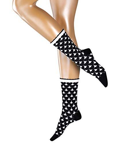 ESPRIT Damen Socken Mixed Hearts - 80% Baumwolle, 1 Paar, Schwarz (Black 3000), Größe: 36-41