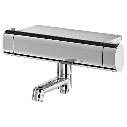 BROGRUND - Grifo mezclador termostático para bañera y ducha (30 x 20 cm), color cromado
