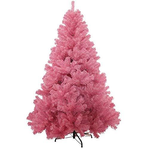 Inicio Equipo Árbol de Navidad Decoración navideña Árboles de lujo Abeto con bisagras Rosa Decoración de árbol de Navidad con patas de metal sólido Auto-extensión para vacaciones-rosa (Tamaño: 6.8F