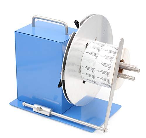 commercial Automatic label rewinder, USA, adjustable rod holder 1-3 inches, label width 100 mm,… label rewinder