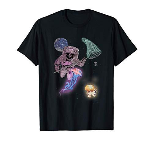 Caza medusas alienígenas astronómicas disfraz juego de redes Camiseta