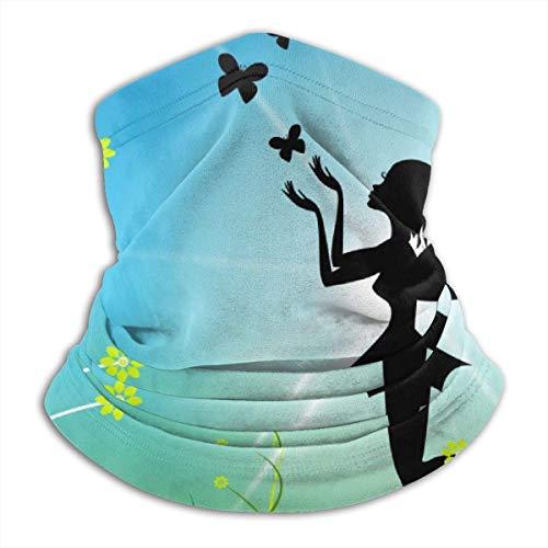 Lawenp Fairy Sun che rappresenta il passamontagna magico Bouquet Womens Headband sciarpa Bandana da uomo, silenziatore, scaldacollo, Magic, Hatliner Sweatband nero