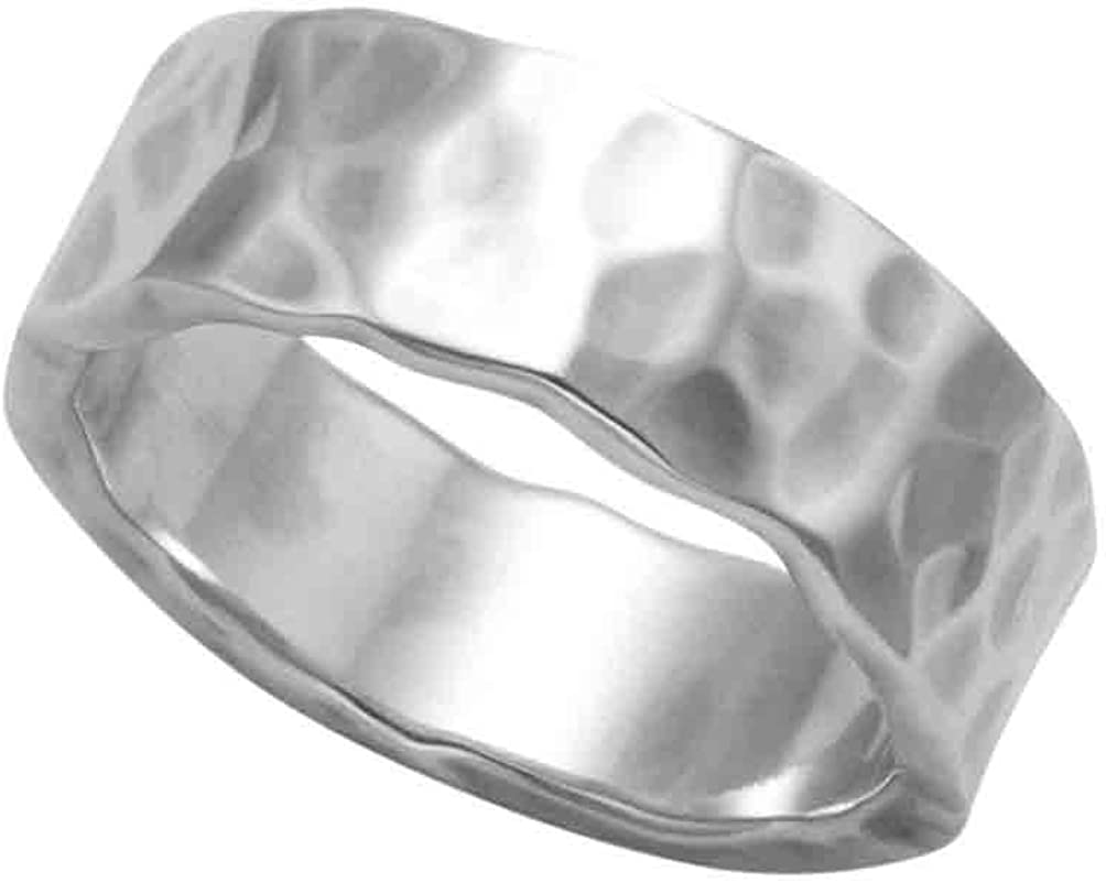 Wild Outstanding Things Hammered and Polished 2021 new Ring Silver Band Sterling