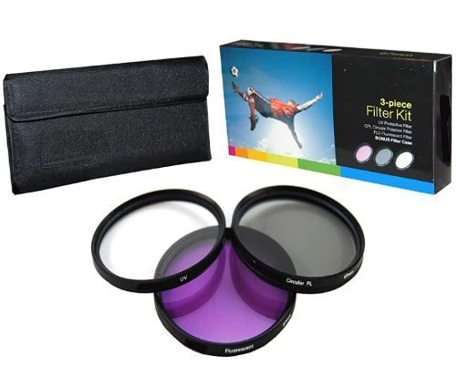 PLR Optics 67MM High Resolution 3-piece Filter Set (UV, Fluorescent, Polarizer) For The Canon Digital EOS Rebel SL1 (100D), T5i (700D), T5, T4i (650D), T3 (1100D), T3i (600D), T1i (500D), T2i (550D), XSI (450D), XS (1000D), XTI (400D), XT (350D), 1D C, 70D, 60D, 60Da, 50D, 40D, 30D, 20D, 10D, 5D, 1D X, 1D, 5D Mark 2, 5D Mark 3, 7D, 7D Mark 2, 6D Digital SLR Cameras Which Has This (18-135mm, 17-85mm, 24-85mm, 70-300mm L) Canon Lens