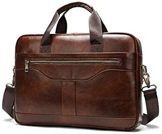 JPDP JCPAL Bolso de Cuero para Hombre maletín para Hombre Bolsos de Oficina para Hombre Bolso de Cuero Genuino para Hombre...