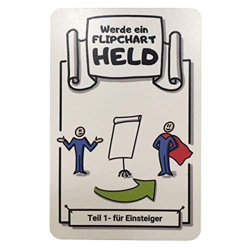 Flipchart Karten Set | Werde ein Flipchart Held und begeistere dein Publikum | 32 Karten | Schritt-für-Schritt Anleitungen