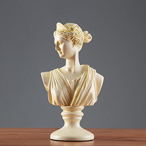 Hclshops Escultura Resina Creativa Medio Cuerpo Escultura Decoración Hogar Sala de Estar Vinoteca Expositor Artesanía (Color : B)