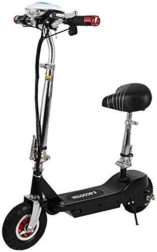 Gpzj Bicicleta eléctrica Plegable, Marco de aleación de Aluminio Mini Pedal de Dos Ruedas Coche eléctrico Scooter Ultraligero A para Adultos, Velocidad máxima 30 KM/H