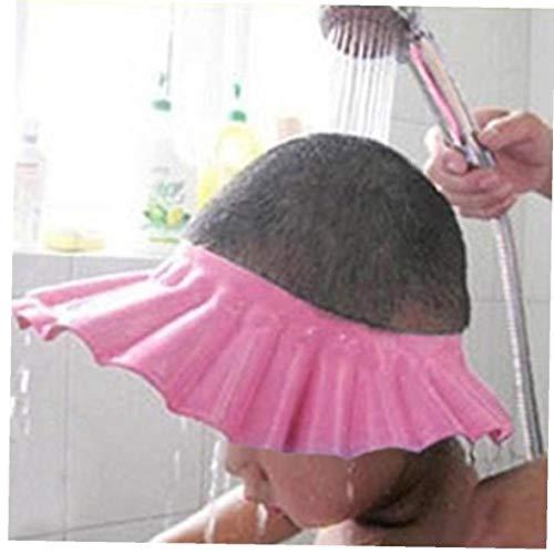 PiniceCore 1pcs Weiche Baby-dusche Cap Sichere Baby-Kind-Kind-Shampoo-Bad-Schutz-dusche-Kappen-Hut-wäsche-Haar-Schild-babyparty Schutz Augen (pink)