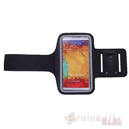 BRALEXX Sporttasche Armtasche Smartphonetasche passend für Samsung Galaxy Note 3 Neo 3G, Schwarz
