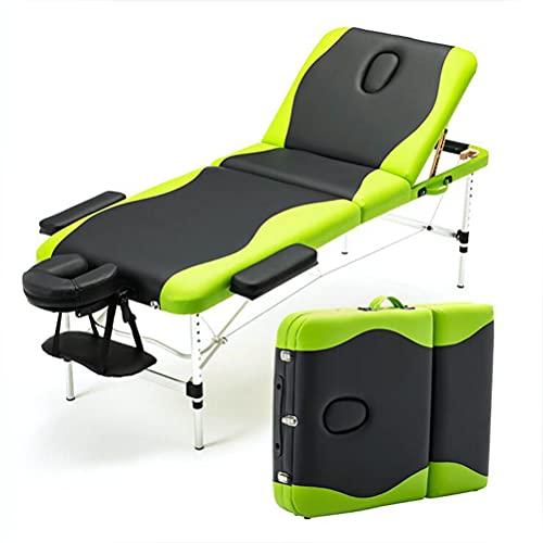 Inconnu Table de Massage Pliante 3 Sections, Lit Cosmétique Professionnelle, Legere Aluminium...