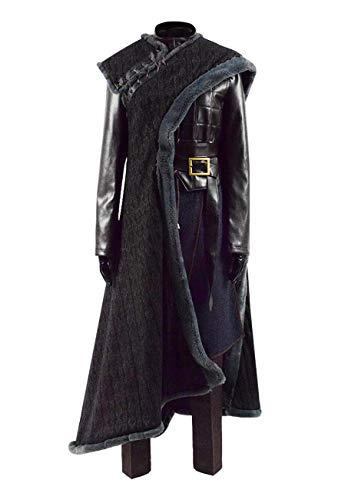 2019 Hot TV Series G Thrones Final Season 8 Arya Costume 2 Colors (Black, US Women-L)