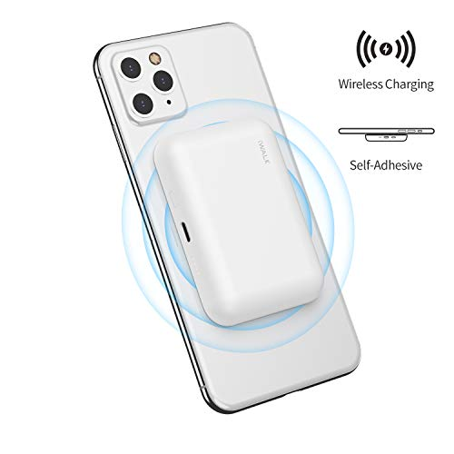 iWALK Caricatore Portatile Wireless, Powerbank Wireless 3000mah Attacca al Telefono, Compatibile con iPhone 11, XS, XR, X, 8, Samsung Galaxy S10, S9, S8, Note 9, Nexus, HTC e Altro Ancora, Bianco