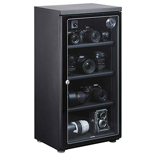 【Amazon.co.jp限定】 HAKUBA 防湿庫 E-ドライボックス 大容量 128L カビ対策 自動除湿 静音 電子制御式 メーカー5年保証 KED-130